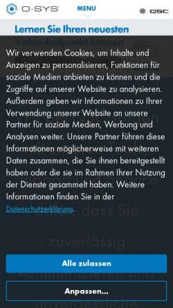 Vorschau der mobilen Webseite www.qsc.de, QSC AG
