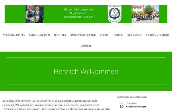 Vorschau von www.buerger-drensteinfurt.de, Bürgerschützenverein St. Johannes von 1593 e.V.