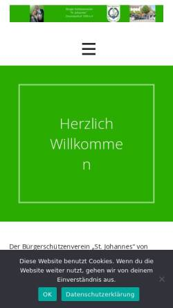 Vorschau der mobilen Webseite www.buerger-drensteinfurt.de, Bürgerschützenverein St. Johannes von 1593 e.V.