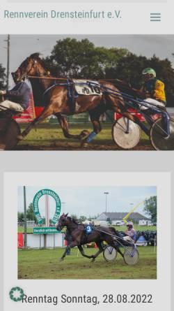 Vorschau der mobilen Webseite www.rennverein-drensteinfurt.de, Rennverein Drensteinfurt e.V.-Pferderennen
