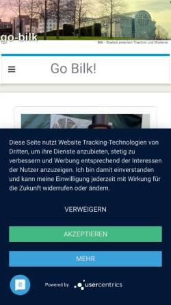 Vorschau der mobilen Webseite go-bilk.de, Bilk - Go-Bilk