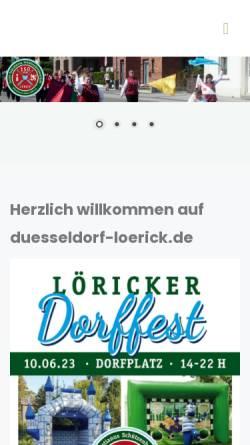 Vorschau der mobilen Webseite www.duesseldorf-loerick.de, Lörick