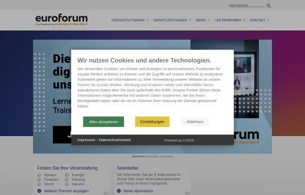 Vorschau von www.euroforum.de, Euroforum Deutschland GmbH