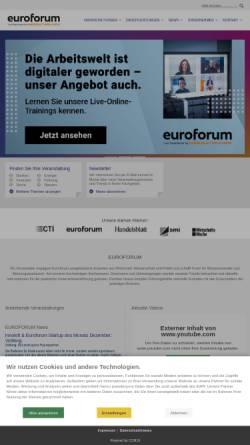 Vorschau der mobilen Webseite www.euroforum.de, Euroforum Deutschland GmbH