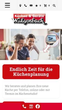 Vorschau der mobilen Webseite www.walgenbach.com, W. Walgenbach GmbH & Co. KG