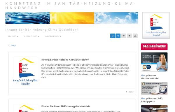 Vorschau von www.shk-duesseldorf.de, Innung Sanitär- und Heizungstechnik