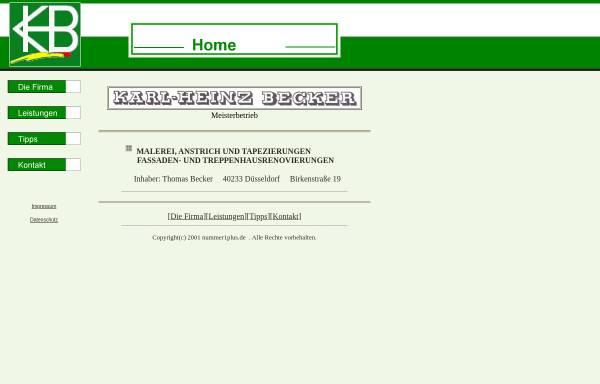 Vorschau von www.becker-malerservice.de, Karl-Heinz Becker
