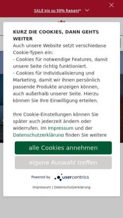 Vorschau der mobilen Webseite www.dehner.de, Klee Gartenfachmarkt Martin Podorf oHG