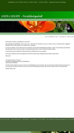 Vorschau der mobilen Webseite www.floristik-duesseldorf.de, Lonzen & Heucher GmbH