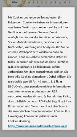 Vorschau der mobilen Webseite www.ernsing.de, Ernsing Assekuranz