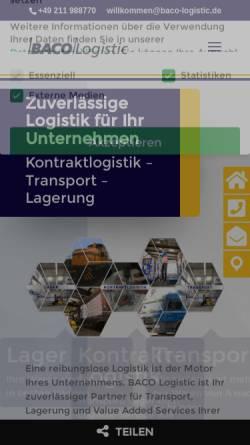 Vorschau der mobilen Webseite www.baco-logistic.de, Baco Logistic Backhaus GmbH & Co.