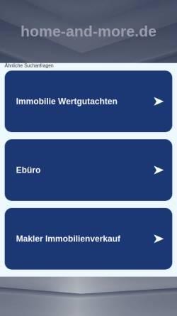 Vorschau der mobilen Webseite www.home-and-more.de, Home and more Römer und Sohn GmbH