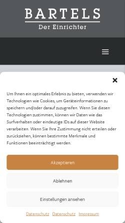 Vorschau der mobilen Webseite www.bartels-einrichtungshaus.de, Bartels Einrichtungshaus