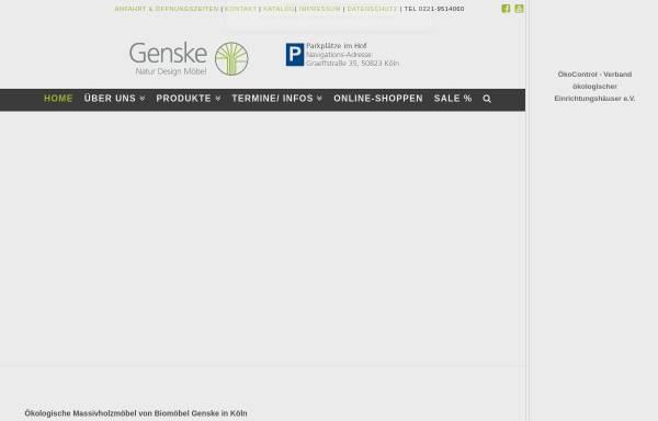 Vorschau von www.biomoebel-genske.de, Biomöbel Genske