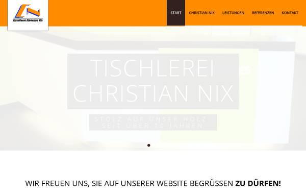 Vorschau von www.tischlerei-nix.de, Tischlerei Christian Nix