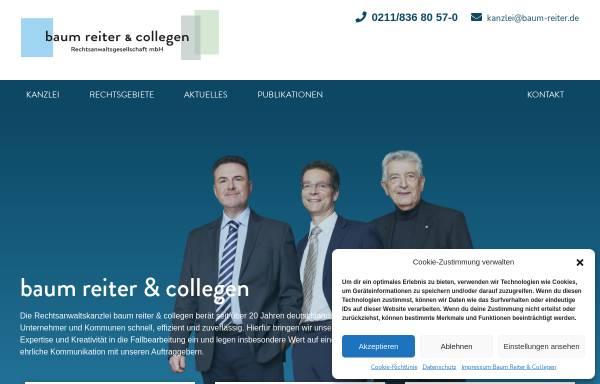 Vorschau von www.baum-reiter.de, Rechtsanwälte Baum, Reiter & Collegen