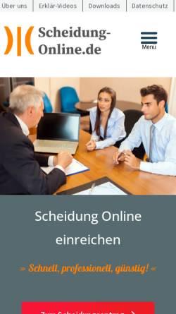 Vorschau der mobilen Webseite www.scheidung-online.de, Rechtsanwalt Roland Sperling
