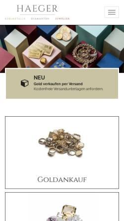 Vorschau der mobilen Webseite goldankauf-haeger.de, Goldankauf Haeger