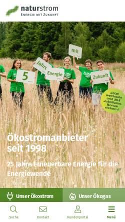 Vorschau der mobilen Webseite www.naturstrom.de, Naturstrom AG