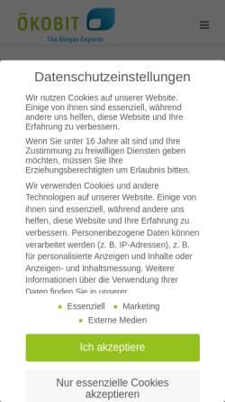 Vorschau der mobilen Webseite www.oekobit.com, Ökobit GmbH