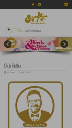 Vorschau der mobilen Webseite www.superfly.fm, superfly 98,3