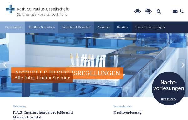 Vorschau von www.joho-dortmund.de, St.-Johannes-Hospital