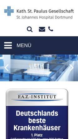 Vorschau der mobilen Webseite www.joho-dortmund.de, St.-Johannes-Hospital