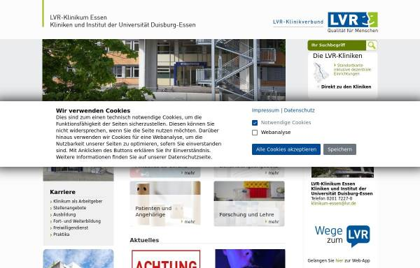 Vorschau von www.klinikum-essen.lvr.de, Rheinische Kliniken Essen