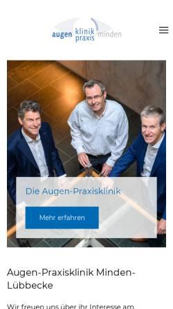 Vorschau der mobilen Webseite augenklinik-minden.de, Augenpraxisklinik Minden