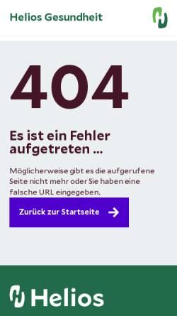 Vorschau der mobilen Webseite www.helios-kliniken.de, HELIOS St. Elisabeth Klinik Oberhausen