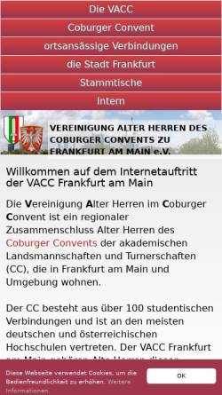 Vorschau der mobilen Webseite www.vacc.de, VACC Aller-Weser