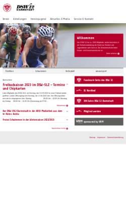 Vorschau der mobilen Webseite www.dsw-1912.de, Darmstädter Schwimm- und Wassersport-Club 1912 e.V. (DSW 1912)