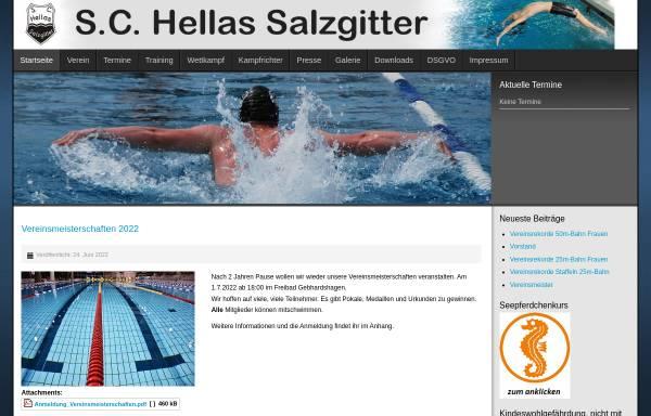 Vorschau von www.hellas-salzgitter.de, Schwimm-Club Hellas Salzgitter e.V.