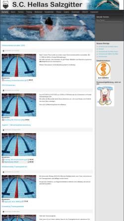Vorschau der mobilen Webseite www.hellas-salzgitter.de, Schwimm-Club Hellas Salzgitter e.V.