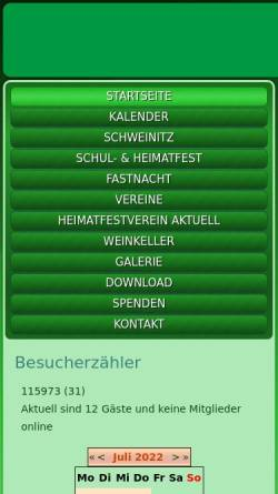 Vorschau der mobilen Webseite www.schweinitz.de, Schweinitz an der Elster