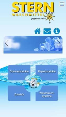 Vorschau der mobilen Webseite www.sternwaschmittel.de, Sternwaschmittel