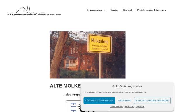Vorschau von www.alte-molkerei-molkenberg.de, Alte Molkerei Molkenberg