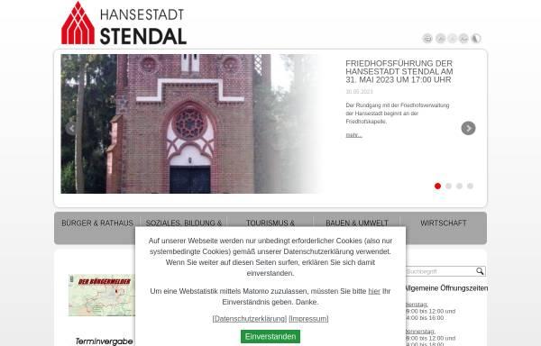 Vorschau von www.stendal.de, Stadt Stendal
