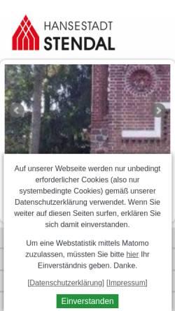 Vorschau der mobilen Webseite www.stendal.de, Stadt Stendal