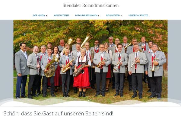 Vorschau von www.rolandmusikanten.de, Stendaler Roland-Musikanten e.V.