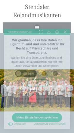 Vorschau der mobilen Webseite www.rolandmusikanten.de, Stendaler Roland-Musikanten e.V.