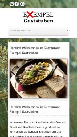 Vorschau der mobilen Webseite www.exempel.de, Exempel-Gaststuben
