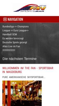 Vorschau der mobilen Webseite www.fan-sportsbar.de, The Fan