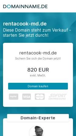 Vorschau der mobilen Webseite www.rentacook-md.de, Sichtbar & Catering Denny Mette