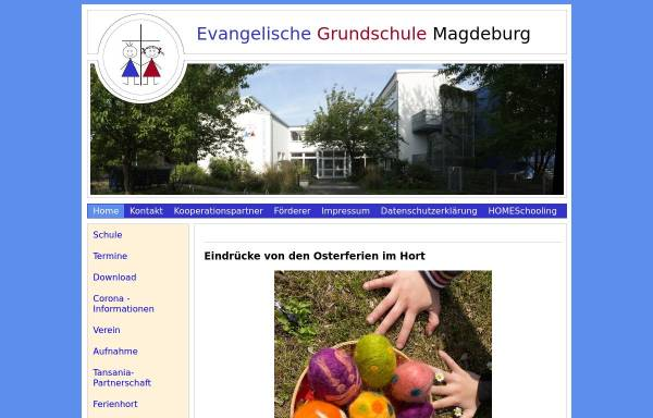 Vorschau von www.ev-grundschule-md.de, Evangelische Grundschule Magdeburg
