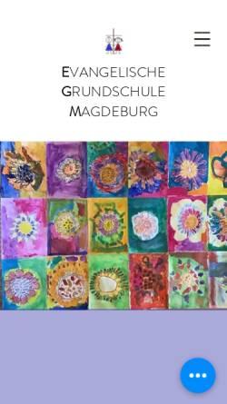 Vorschau der mobilen Webseite www.ev-grundschule-md.de, Evangelische Grundschule Magdeburg