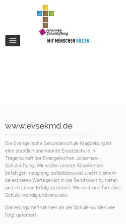 Vorschau der mobilen Webseite www.evsekmd.de, Freie Schule Magdeburg