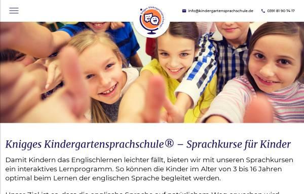 Vorschau von www.lingua.derknigge.de, Knigges Kindergartensprachschule