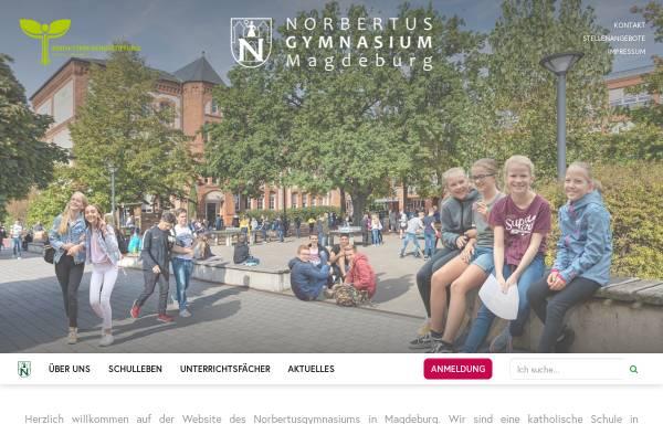 Vorschau von www.norbertus.de, Norbertusgymnasium zu Magdeburg