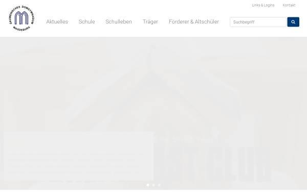 Vorschau von www.domgymnasium-magdeburg.de, Ökumenisches Domgymnasium Magdeburg
